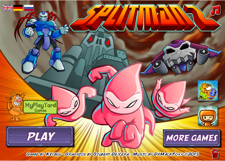 Игра, Splitman 2, flash, флеш