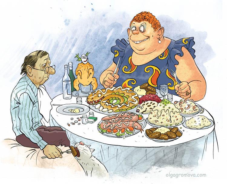 карикатуры Ольги громовой, бабки, художник-иллюстратор Ольга Громова, творчество
