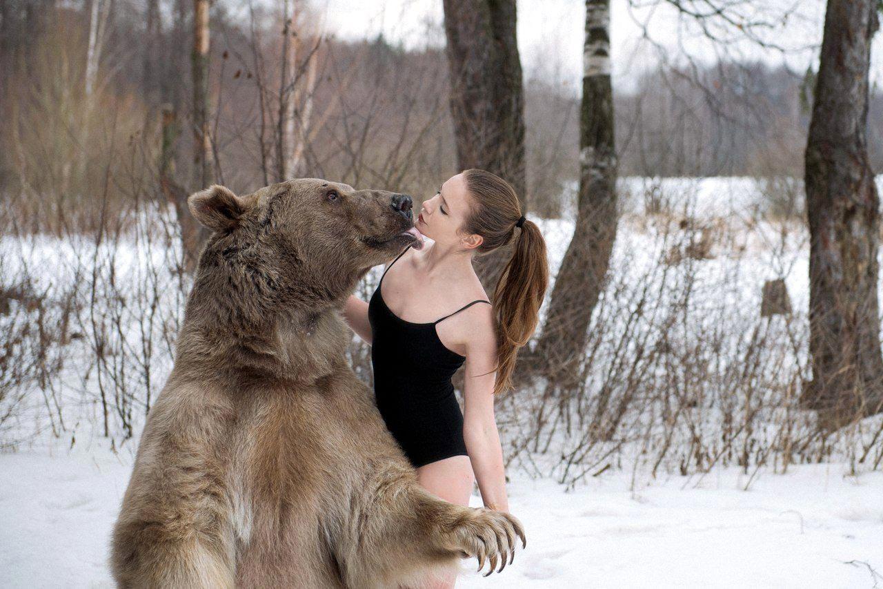 Обнять волка фото
