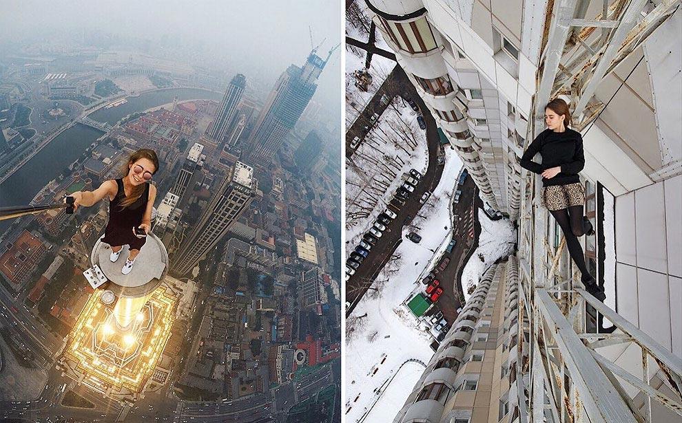 видимо судьба фото моделей на большой высоте кадрах