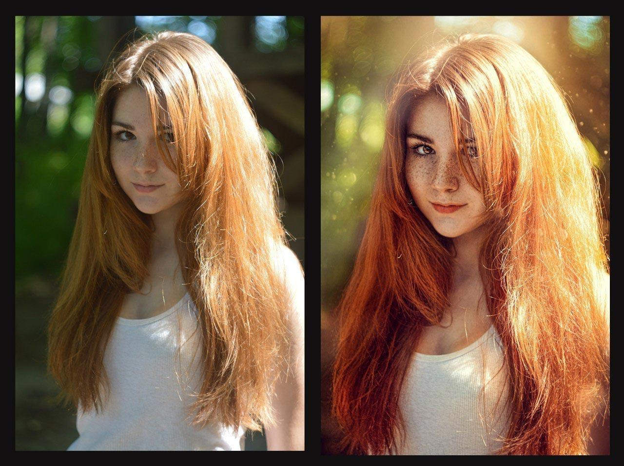 обработка фото цвет волос картинки