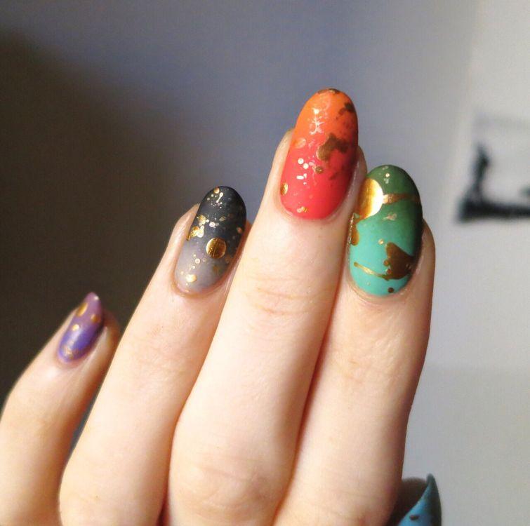 платоническую, новый тренд каменные ногти фото его