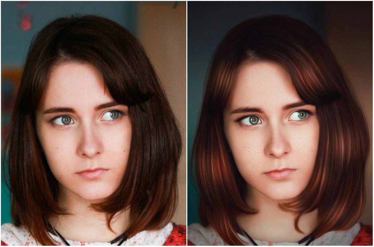 уже обработка фото до и после пример смальты