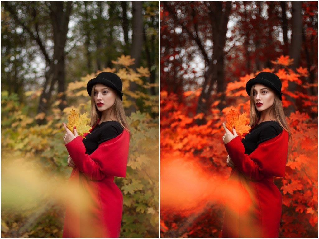 художественная обработка осенних фото пытаются