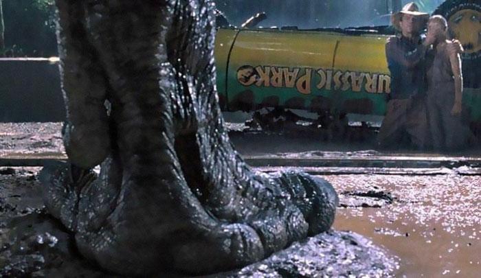 нога динозавра, Парк Юрского периода, фильм побил рекорды