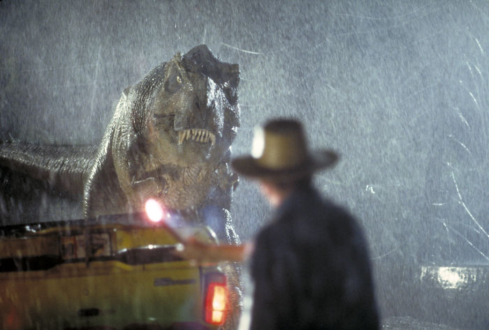 Тираннозавр Парк юрского периода, Тираннозавр под дождём