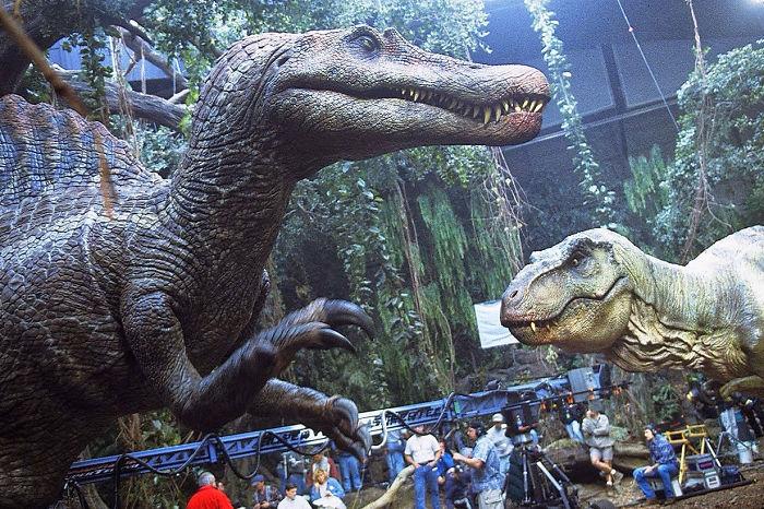 Спинозавр, парк юрского периода, самый большой аниматроник