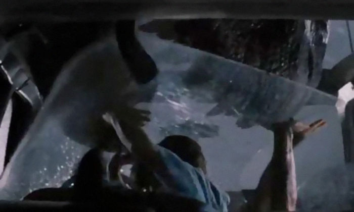 тираннозавр, Парке юрского периода, динозавр нападает